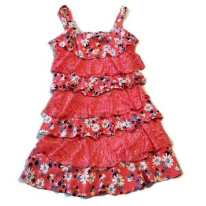 Justice Dress 18 Girl Tiered Ruffle Lace Sun daisy